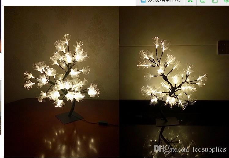 Levou luzes de fibra piscando string de cabeceira layout quarto luzes do feriado meninas coração quarto decorativo ramos luzes AC110V-220V