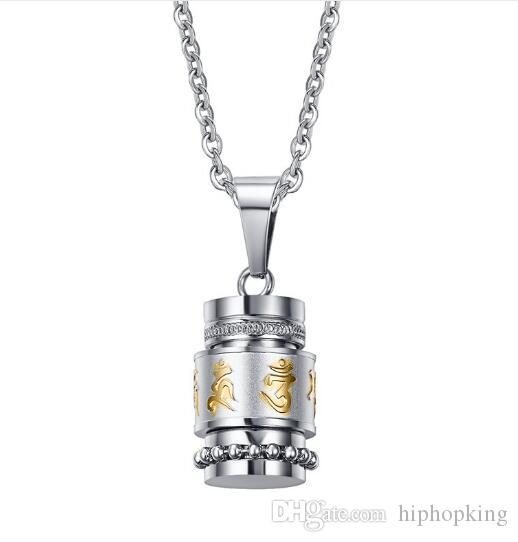 Wholesale mens necklaces stainless steel tibet prayer wheel pendant wholesale mens necklaces stainless steel tibet prayer wheel pendant necklace freely rotate smoothly exquisite carved prayer mantra choker silver charms mozeypictures Gallery