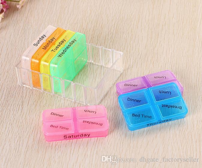 핸디 7 데이 알약 미니 박스 타블렛 홀더 의약품 디스펜서 주최자 알약 케이스 알약 스플리터