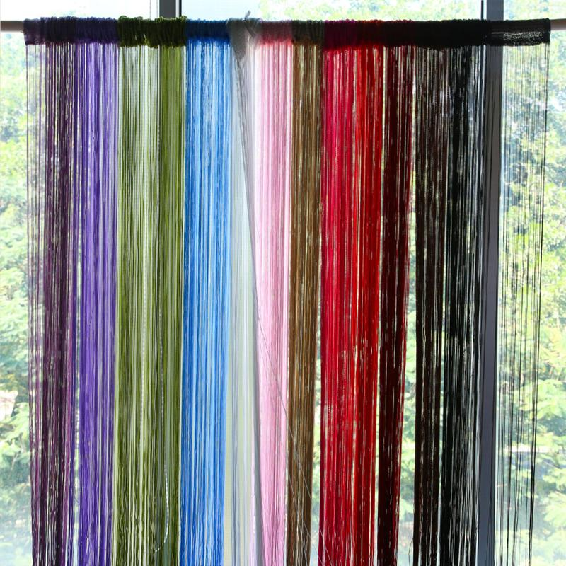 2018 2m*1m String Curtains Door Window Panel Curtain Divider Yarn String  Curtain Strip Tassel Drape Decor For Living Room From Yeliut6047, $6.63 |  Dhgate.
