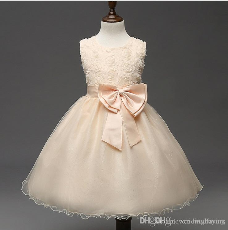 068e8e7ea9 Hot Selling Flower Girls Dresses Girls dress cuhk children princess dress  rose flower girl dress children s skirt with good quality pri
