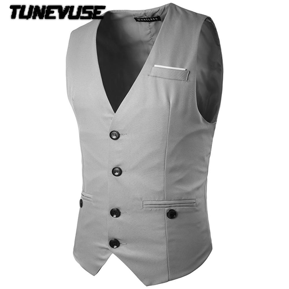 2017 Wholesale Tunevuse Dress Vests For Men Suit Vest Male ...