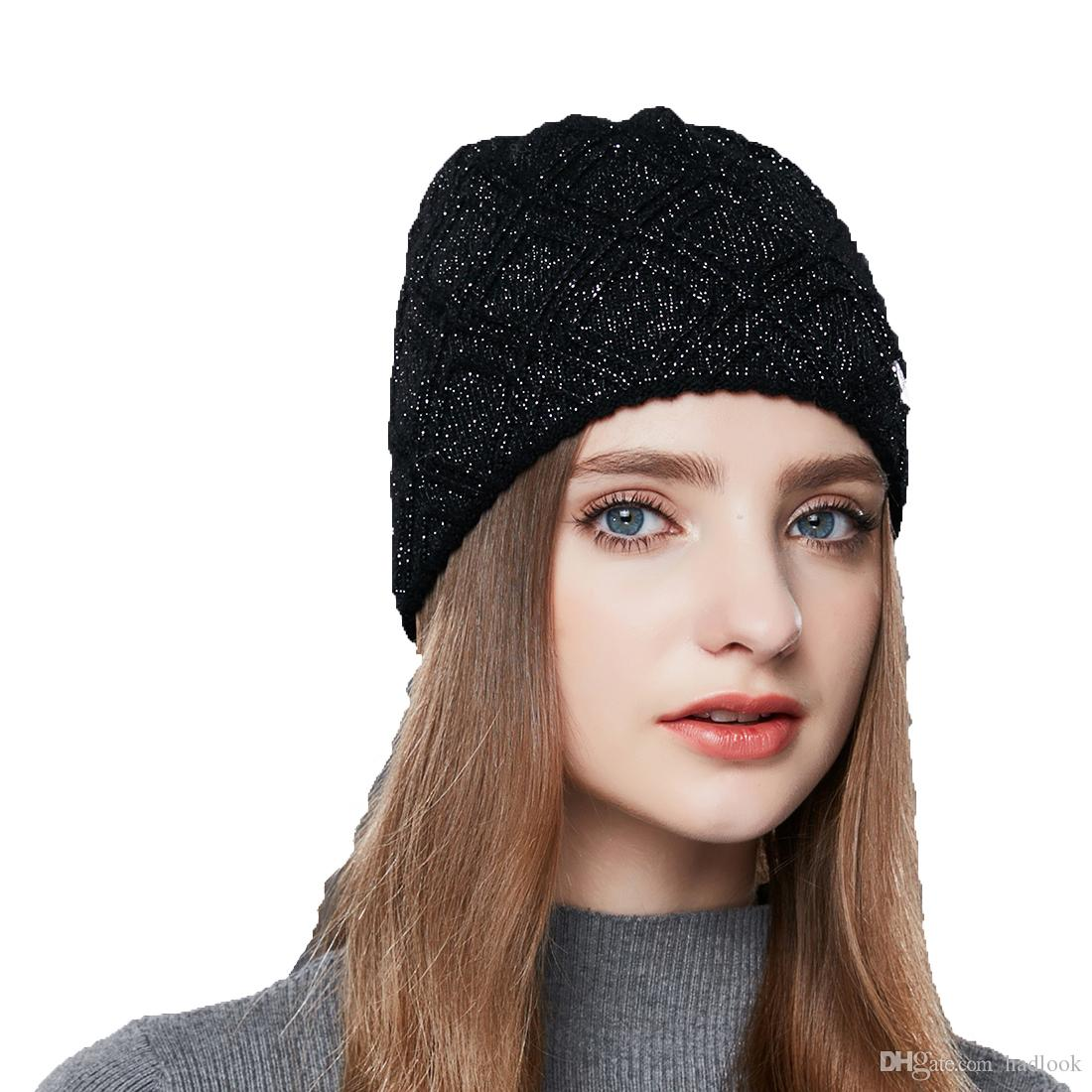 Cashmere Knitted Women S Hats Diamond Lattice Winter Hat Female Thick  Cashmere Gravity Falls Cap Youth Wool Beanies Protecting Hats Beanies For  Women Beanie ... 8cbe1ac11d4