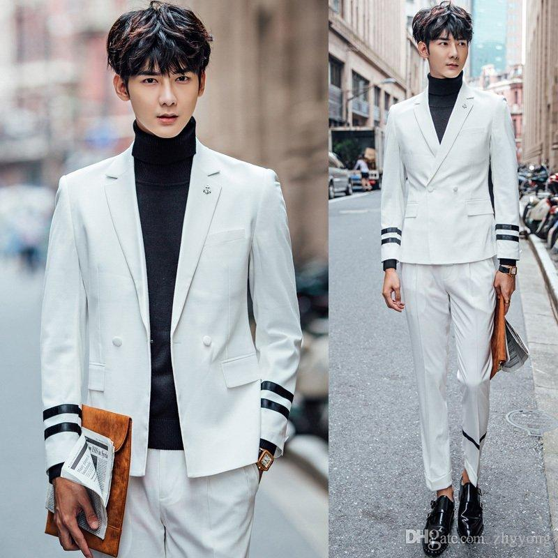 Best Jacket+PantsSuit Summer Male Thin Section Suit Korean Style ...