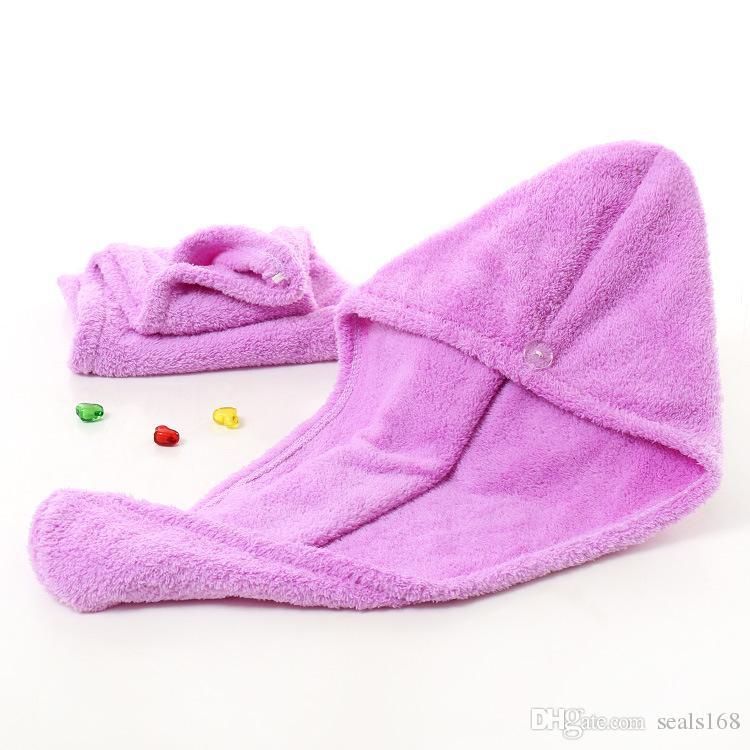 Casquettes de douche Microfibre Chevalesses serviettes pour femmes Super absorbant cheveux secs rapides Sèche-cheveux Turban Séchage frisé longue épaisseur spa capuchon de bain HH21-257