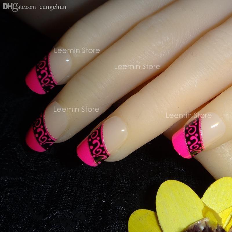 Wholesale 2015 New False Nail / Set, Women Fashion Nail,Pink Panther ...