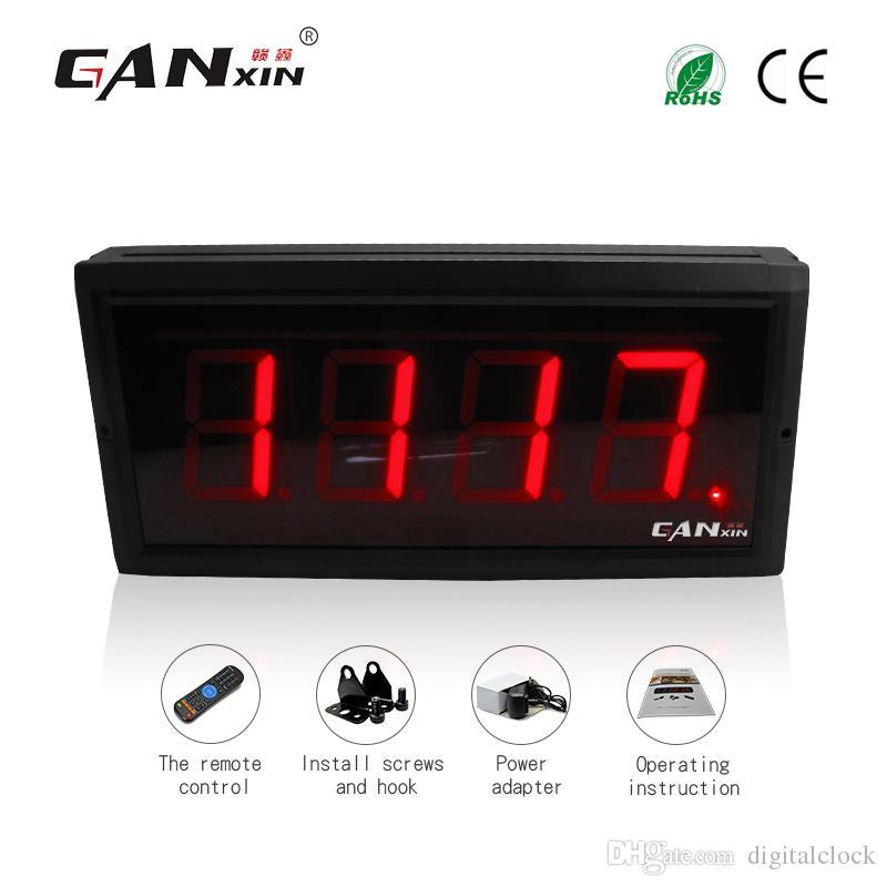 [GANXIN] 4-stellige 3-Zoll-High-Characte-LED-Anzeige Digitalzähler 12 V Countdown / Up-Summierer 0-9999 Mit IR-Fernbedienung Rote Farbe