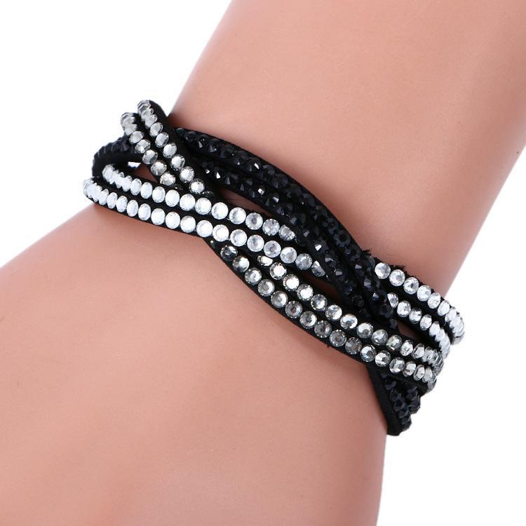 Nouveau Mode 6 Couche Bracelet En Cuir Unisexe Multicouche En Cuir Bracelet À La Main Vintage Charme Bracelet Pour Les Femmes Pulsera Bijoux