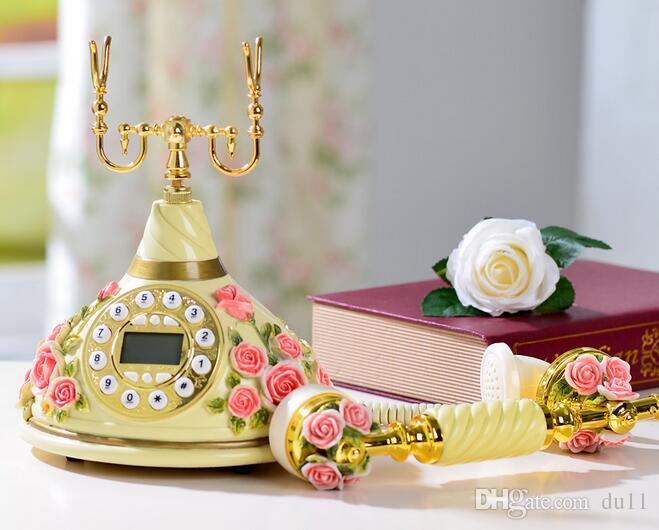Téléphone rétro de style européen, ancien téléphone haut de gamme, téléphone classique américain, nouveau téléphone haut de gamme