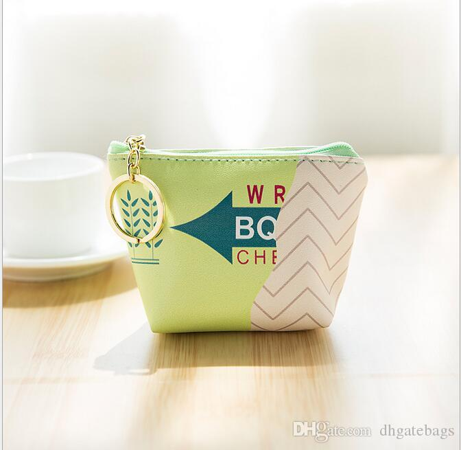 Girls cute Coin Purse PU Pack Baby Beautiful Mini Coin Bag lady Printed Clutch Handbag mini Cosmetic Bags