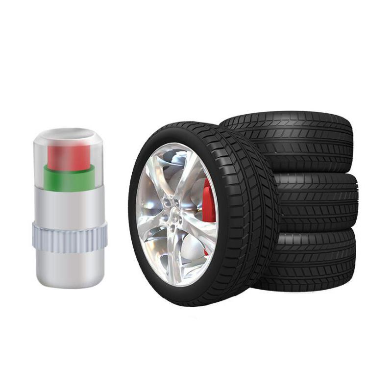 4 PZ Visiable 2.4bar 36PSI Car Auto Tire Air Warning Alert Sensore di Pressione Dei Pneumatici Monitor Valvola Cap Indicatore Eye Alert Diagnostic Tools Kit