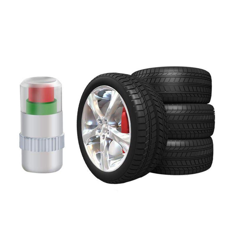 4 STÜCKE Visiable 2,4 bar 36PSI Auto Auto Reifen Luft Warnung Reifendrucksensor Monitor Ventilkappe Anzeige Eye Alert Diagnostic Tools Kit