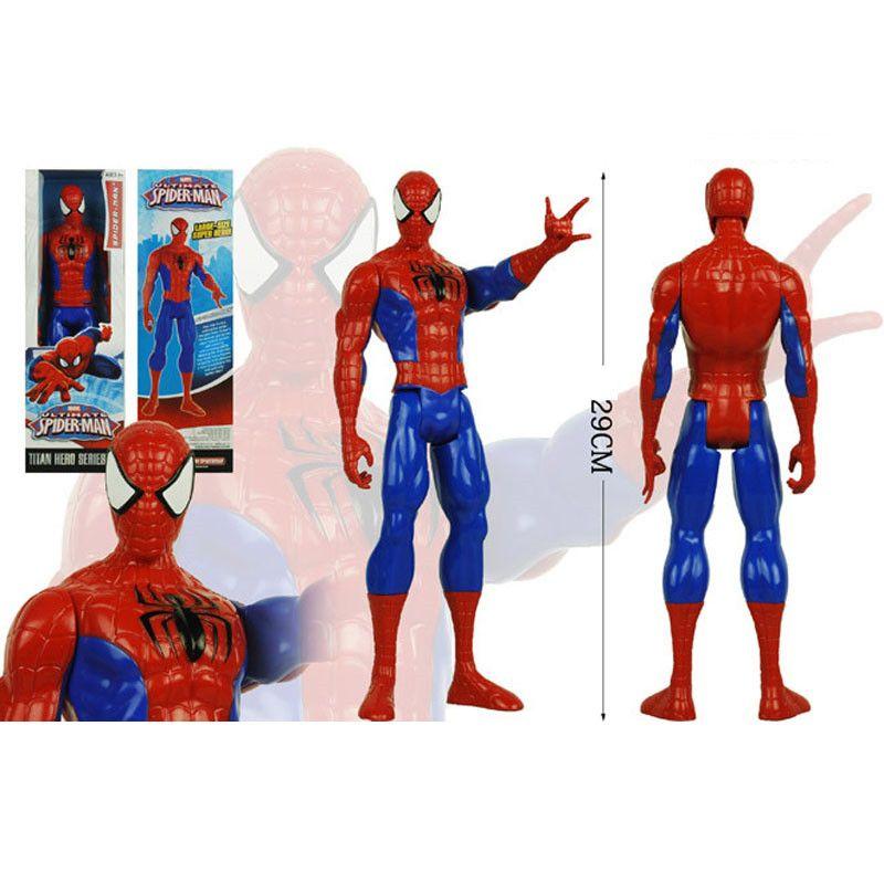 Мстители ПВХ фигурки Marvel Heros 30 см Железный Человек-паук Капитан Америка Альтрон Росомаха рисунок игрушки OTH025