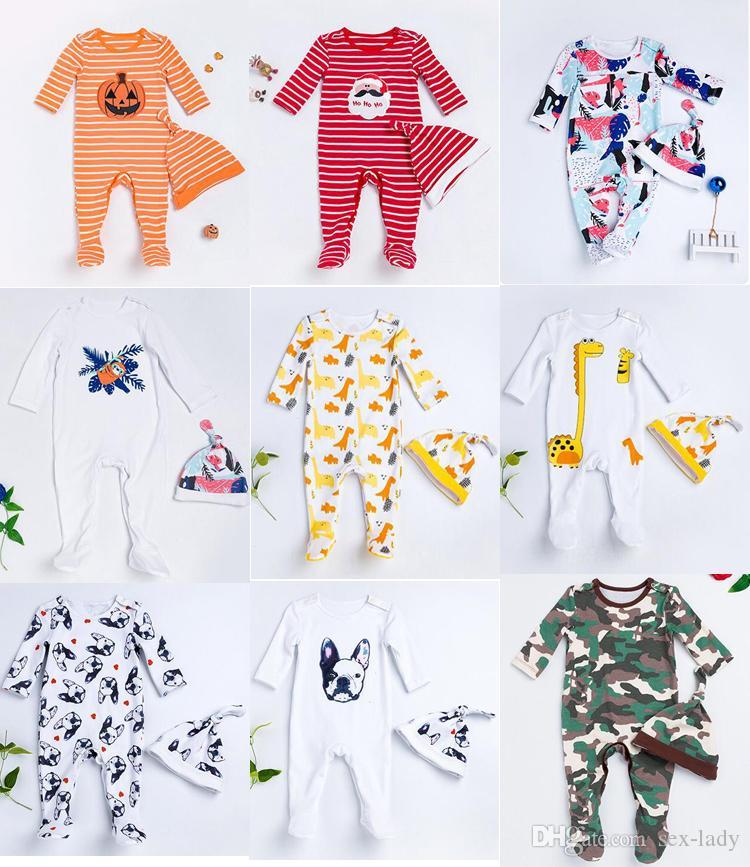 Acheter 9 Style Ensembles De Vêtements Pour Bébés Néo Bébés Ensemble De  Chapeaux Pour Bébés + Chapeau De Chocolat Pour Halloween Combinaison Pour  Chèvres À ... 0cb03bdfea1