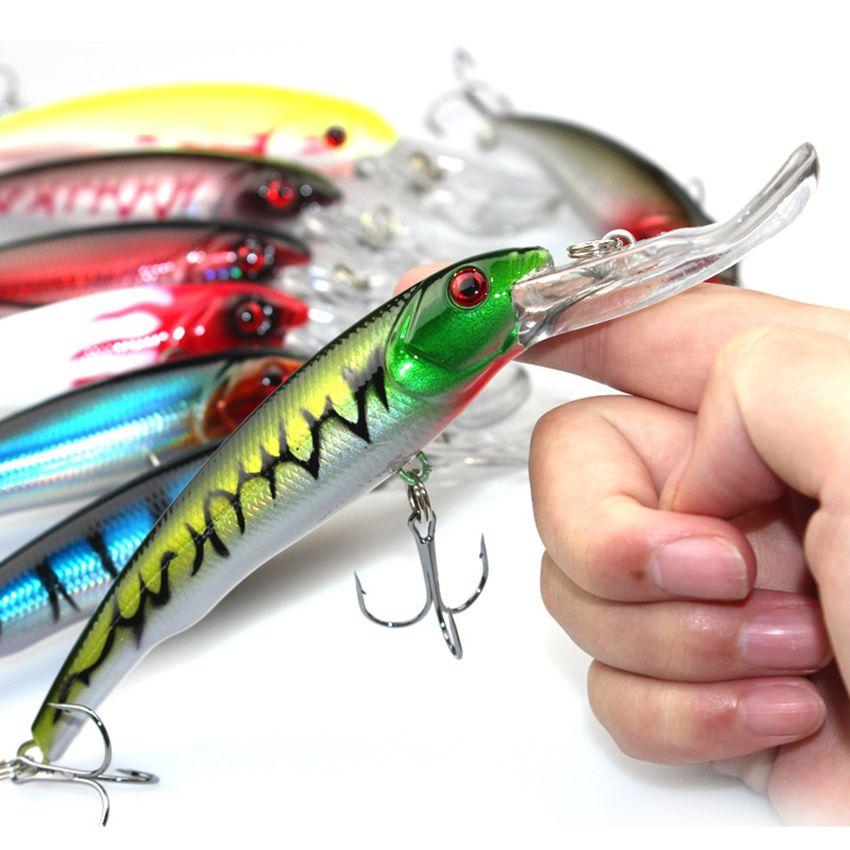 8 piezas mar Trolling Big señuelo Minnow pesca 29 g 16.5 CM plástico duro señuelo aparejos de pesca 2 # ganchos Isca cebo Artificial Minnow