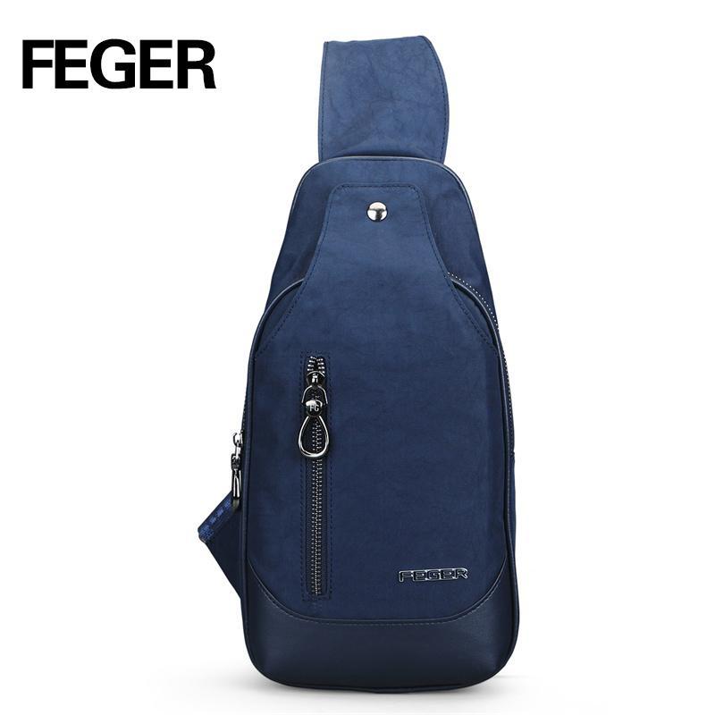 4ed6e8c17468 Wholesale- FEGER Casual Durable Soft Nylon Mens Messenger Bags Small ...