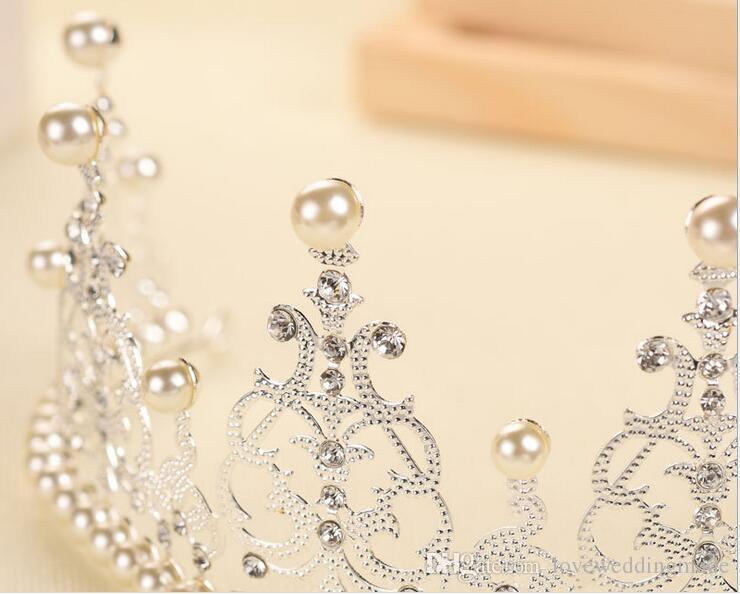 2019 New Western US DIY Argent / Or Gâteau Décoration Bijoux De Mariée Coiffure De Mariée Accessoires De Mariage De Mariage Couronne D01