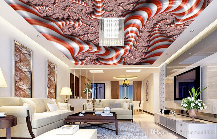 Großhandel 3d Decke Benutzerdefinierte 3d Wandbild Bunte Abstrakte Tapete  Für Decken 3d Wallpaper Wohnzimmer Tapete Decke Moderne Von Yeyueman8888,  ...