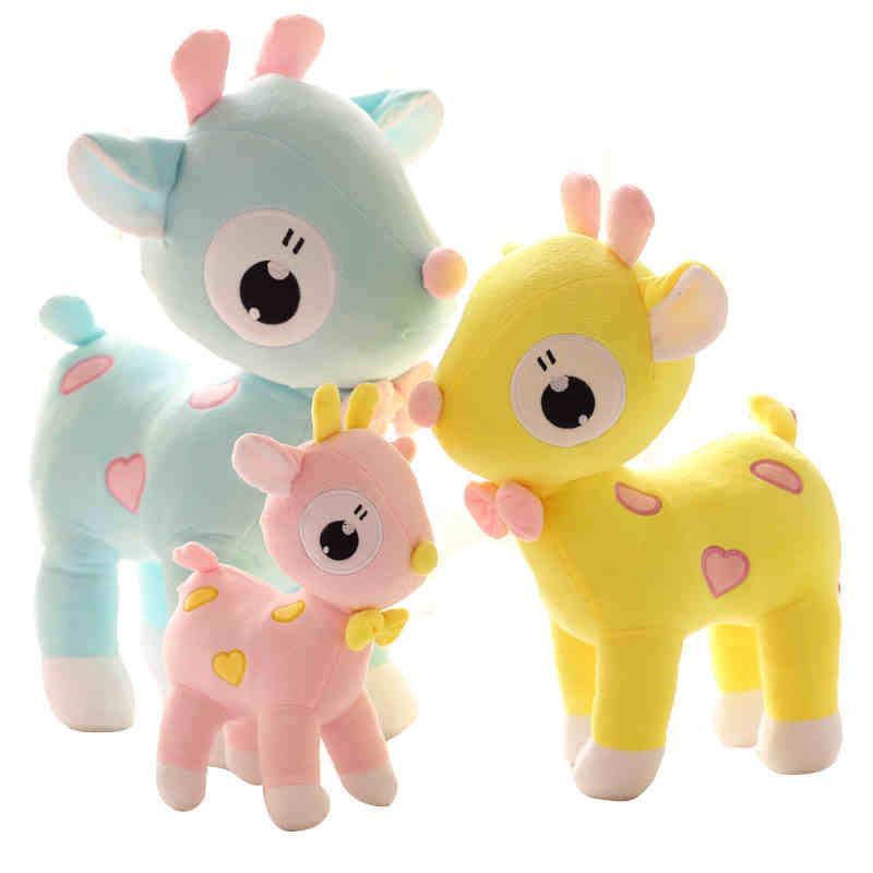Wholesale Stuffed Animal Toys 25cm 9 8inch Lovely Deer Plush Dolls