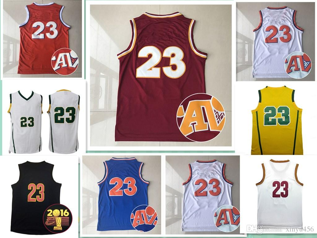 c0a959dee44b Discount Cheap Men S Jersey  23 Stitched Throwback Lbj Basketball Jerseys  Embroidery Logos Shirt From China