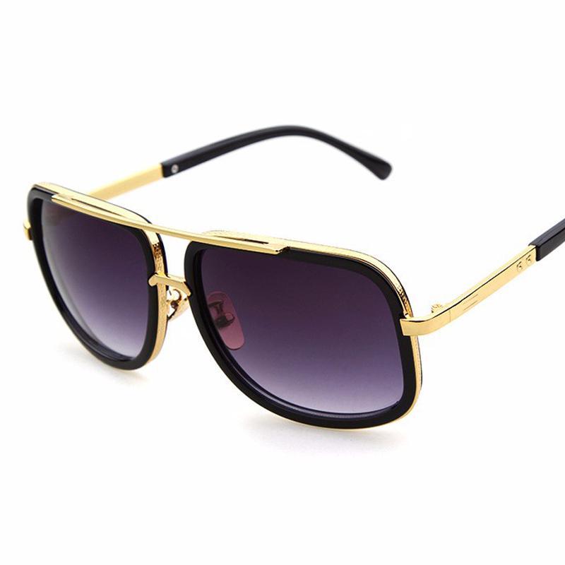 5bd07369eb7 Wholesale-Beyond Star New Sunglasses Women Men Metal Big Square ...