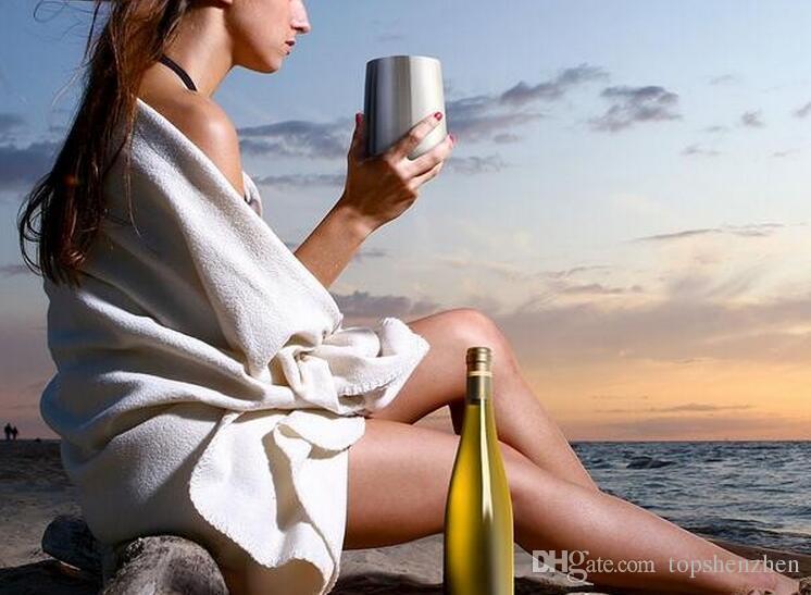 16 oz 304 verres à vin en acier inoxydable 16 oz tasses de vin rouge tasses isolées sous vide gobelet Tasses de voyage à l'extérieur avec couvercles en stock