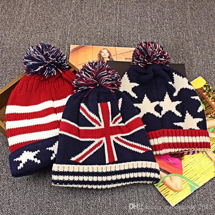 b72c8195e85 2019 Top Quality Fashion U.S.A American Flag Beanie Hat.Wool Thicken Warm  Knitted Caps