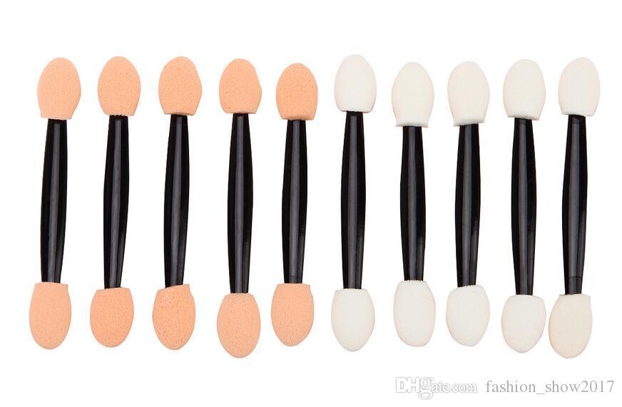 Hot Doppel Schwamm Lidschatten Applikator Werkzeug Einweg Lidschatten Applikator Pinsel Kosmetik Werkzeug Für Frauen Dame