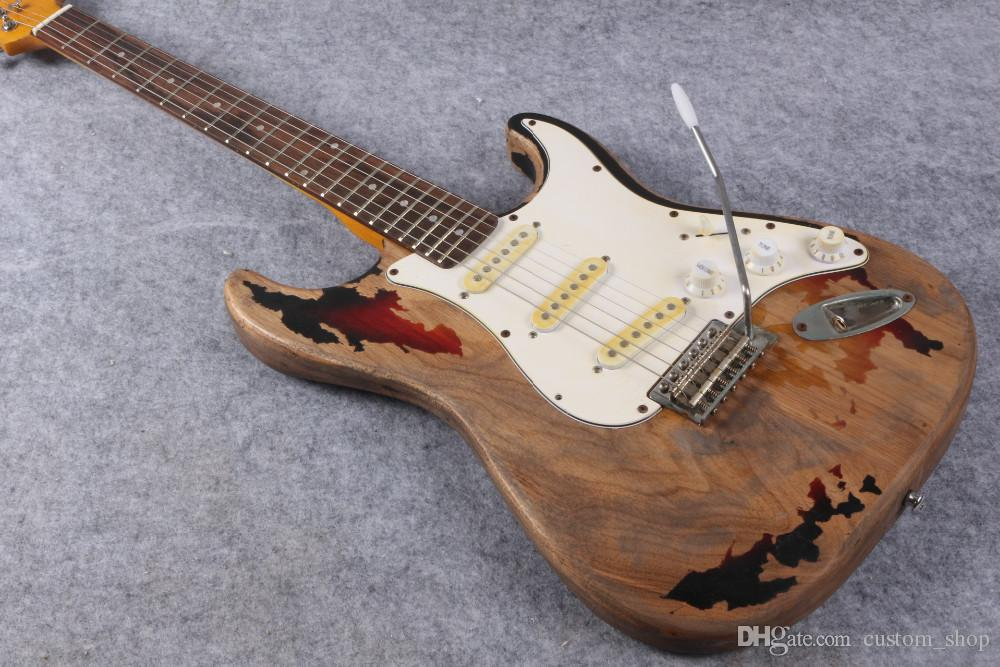 Favoloso Collectable Custom 1961 Rory Gallagher Tribute St Strat Ocaster  OW72