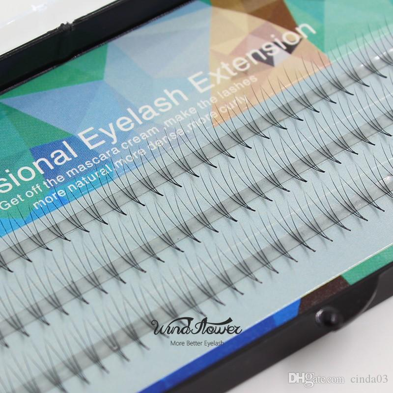 Vendita all'ingrosso-nuovo ciglia di seta 0.07 c arricciatura 3D singoli visone visual estensione morbida nera falso falso occhio ciglia