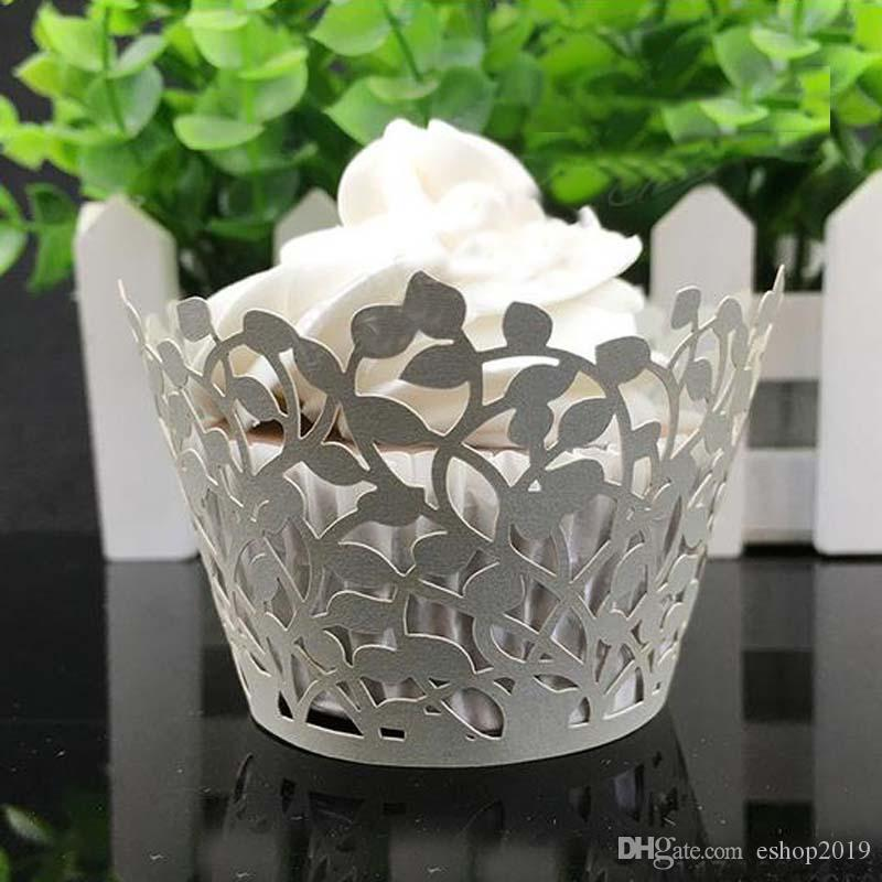 2017 New Laser Cut Clover Cupcake Wrapper Wedding Favors Party Supplies Decoration Birthday Party Decoration