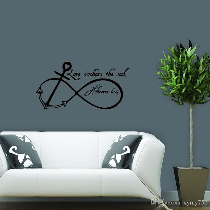 Removable Wall Art new product for love anchors soul removable wall art decal quote