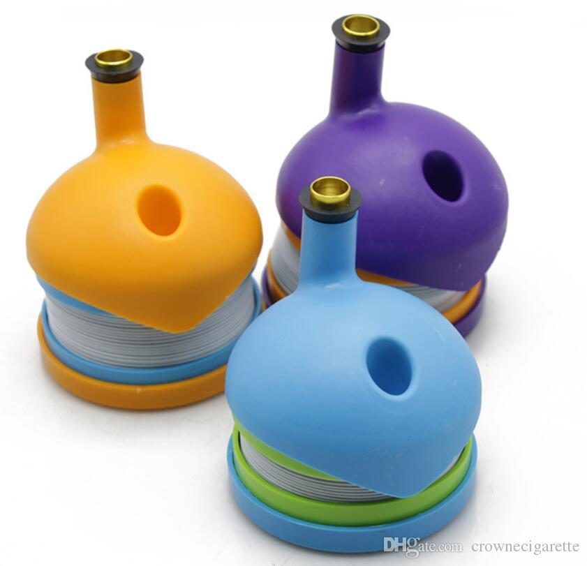 Bukket bong Bukket гибкий гибкий пластик Курительные трубки Табачная трубка 91.5 * 110.5мм Курительные принадлежности клон оригинальность