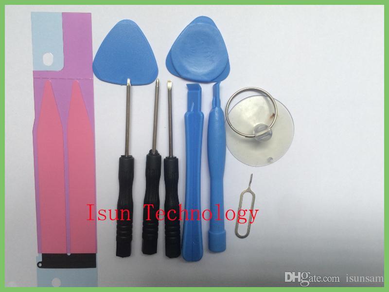 Adhesivos de batería Teléfonos celulares Juego de herramientas de reparación de palanca Juego de destornilladores Juego de herramientas Mantener el equipo para 6 más 5S 4