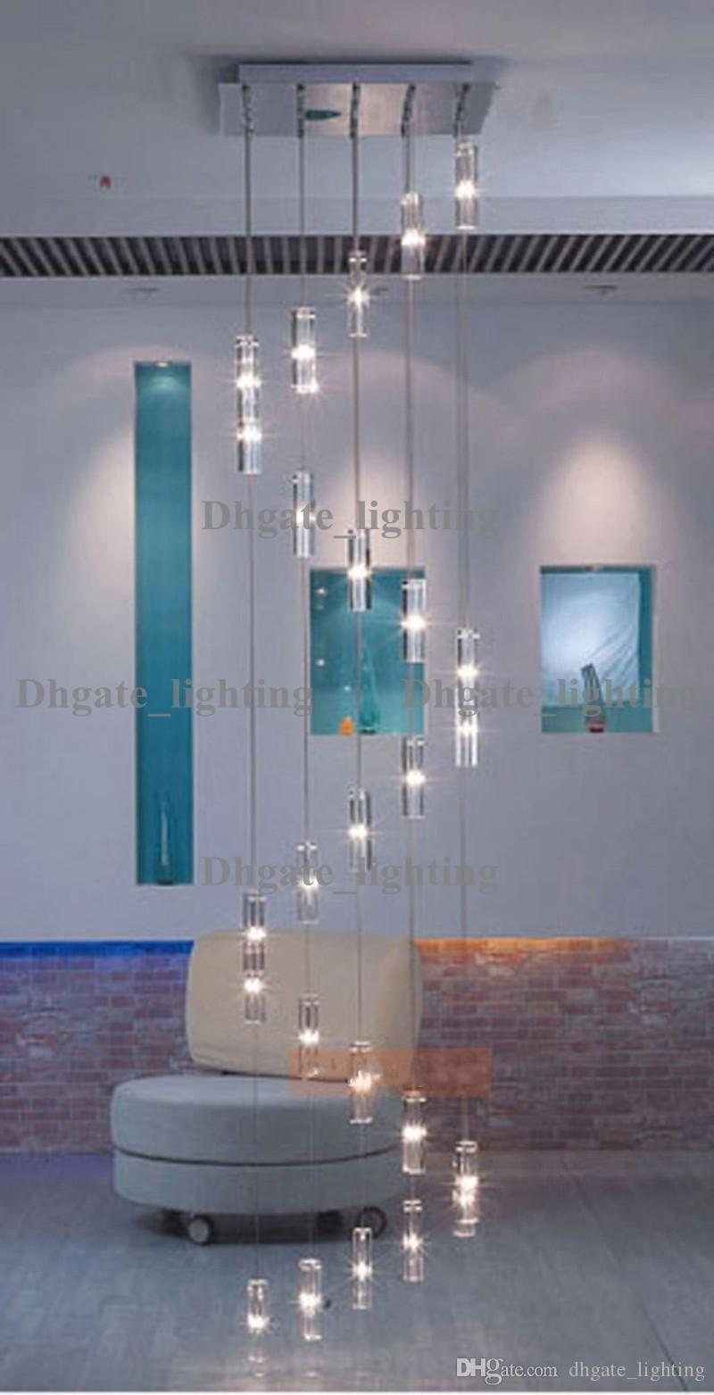 Hotel Staircase Chandelier Modern Lighting Fixture Square Chandelier Rain Drop Lighting Spiral Stairway Crystal Chandeliers Stainless Steel Chandelier Light ... & Hotel Staircase Chandelier Modern Lighting Fixture Square ... azcodes.com