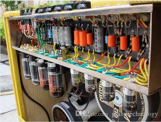 مخصص Grand AMP G-40 40W اليد السلكية جميع أنبوب غيتار كهربائي مكبر للصوت كومبو مع تويد الفينيل شواء القماش 2 * 12 V30 المتكلم الآلات الموسيقية البحر + ups شحنة