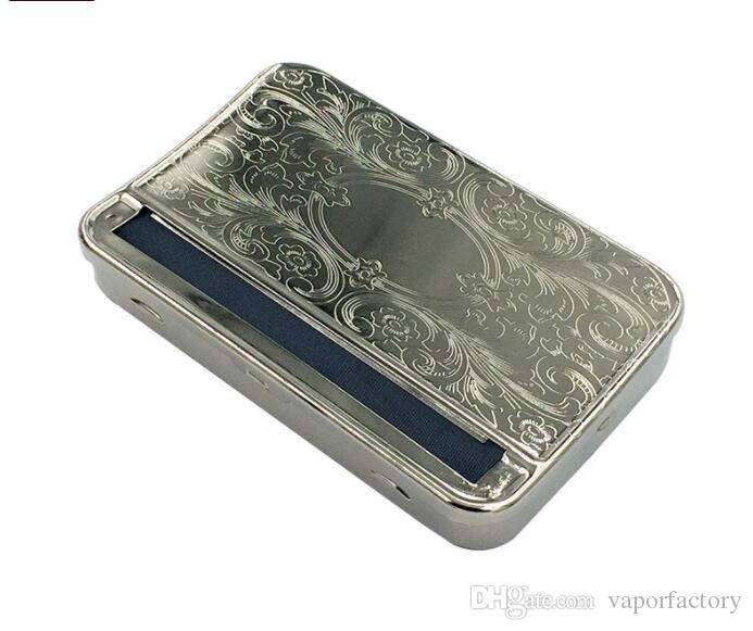 USA Metal Automatic 110 MM Cigarette Rolling Machine Box Case smoking for 110MM KING SIZE Paper Tobacco Roller Rolling Machine