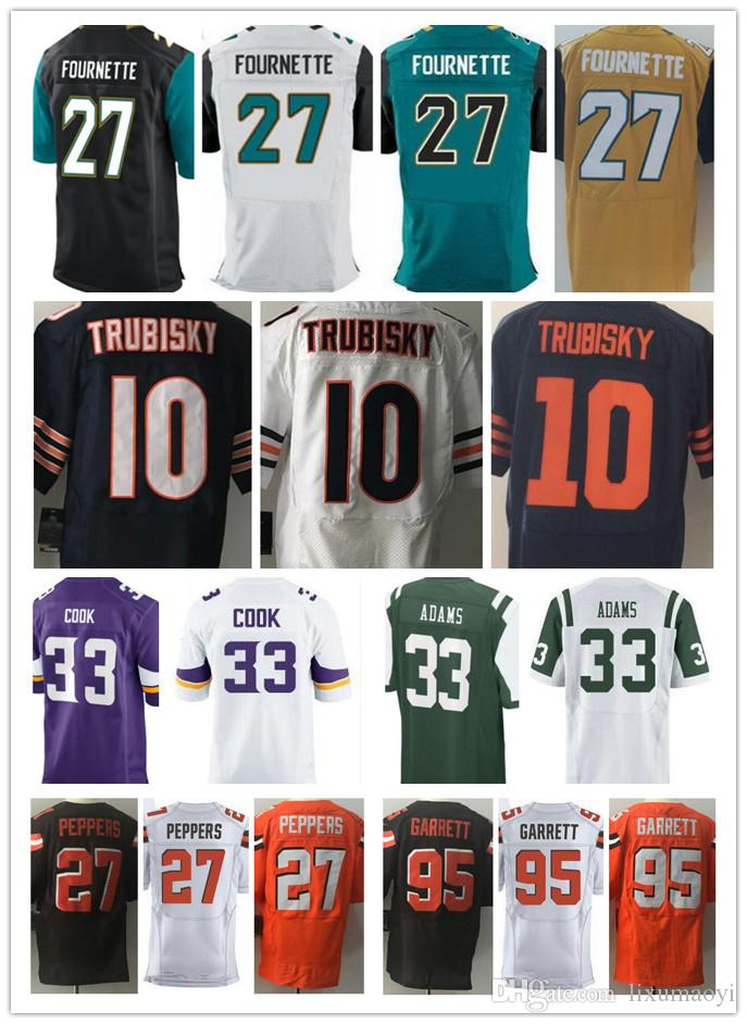 8214f8504c5 ... Mitchell Trubisky 27 Jabrill Peppers 95 Myles Garrett 33 Dalvin Cook Nike  Chicago Bears 10 Mitchell Trubisky Navy Blue Mens Elite Throwback NFL Image  is ...