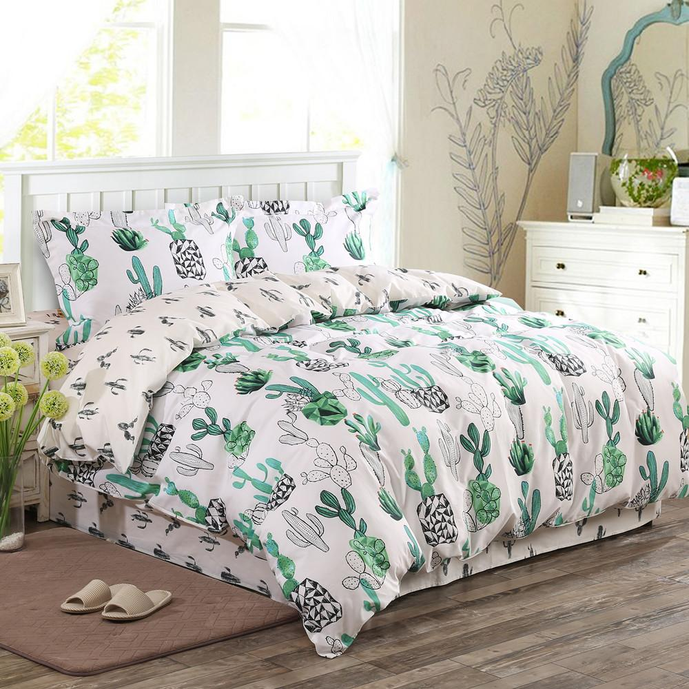 wholesale russia classic lmitate silk feel satin like cotton fabric plain green cactus bedding. Black Bedroom Furniture Sets. Home Design Ideas