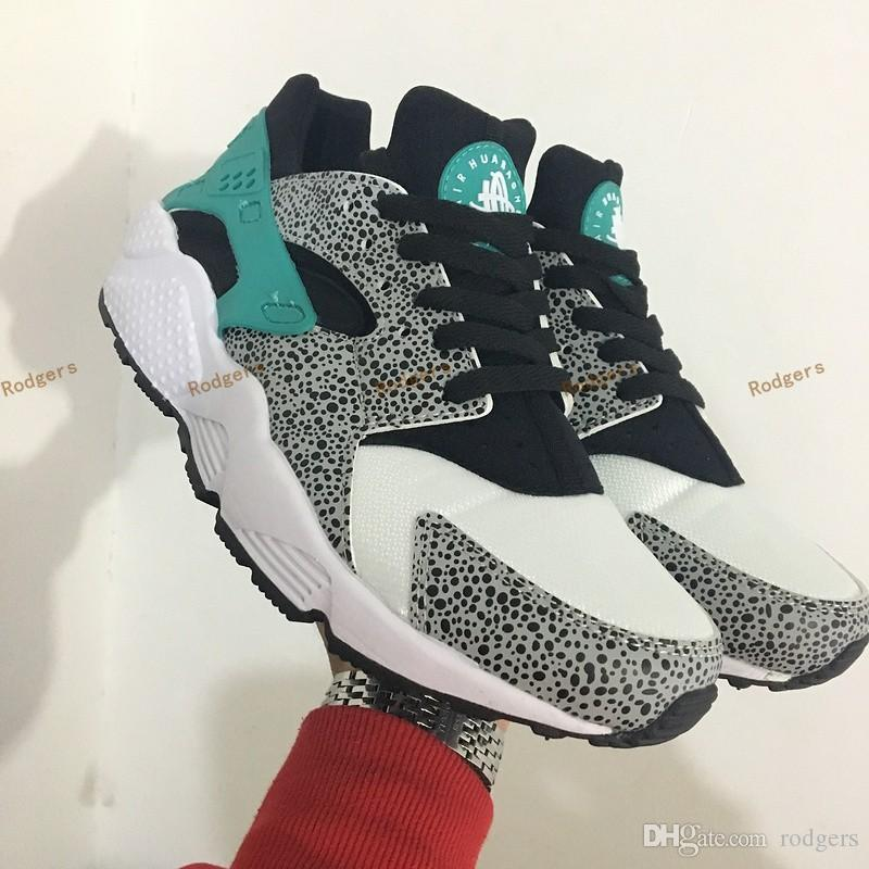 Best 2017 New Air Huarache Id Atmos Elephant Print 1 One Running Shoes Men  Women Huaraches Multicolor Sneakers Sport Athletic Trainers 40 45 Under  $50.26 ...