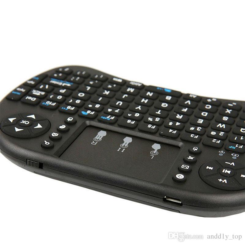 Mini teclado inalámbrico RII i8 2.4GHz Mouse de aire Teclado de control remoto Touchpad para Android Box TV juego Tablet PC