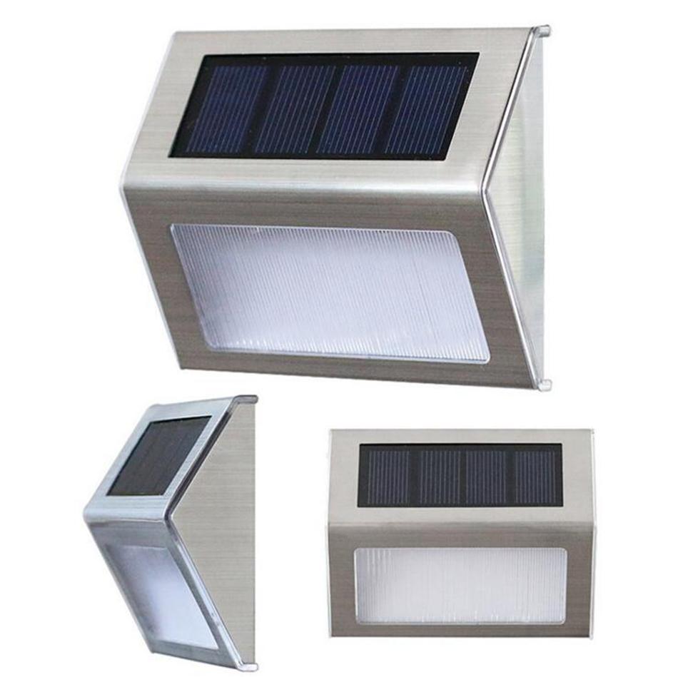Solar Step Deck Lichter LED-Licht Wandhalterung Gartenweg Lampe Treppenlichter Outdoor Yard Garden Pathway Wasserdichtes Licht OOA3133