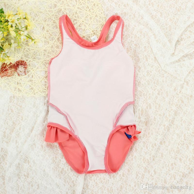 One-piece Kids Girls Baby Swimwear Black Swan Pink Flamingo Melon Parrot Swimsuit Bathing Cap Princess Dresses Clothing