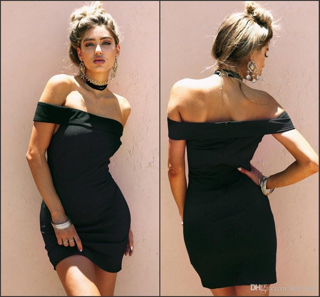 Sexy Little Black Bodycon Dresses For Women 2018 Off The Shoulder ...