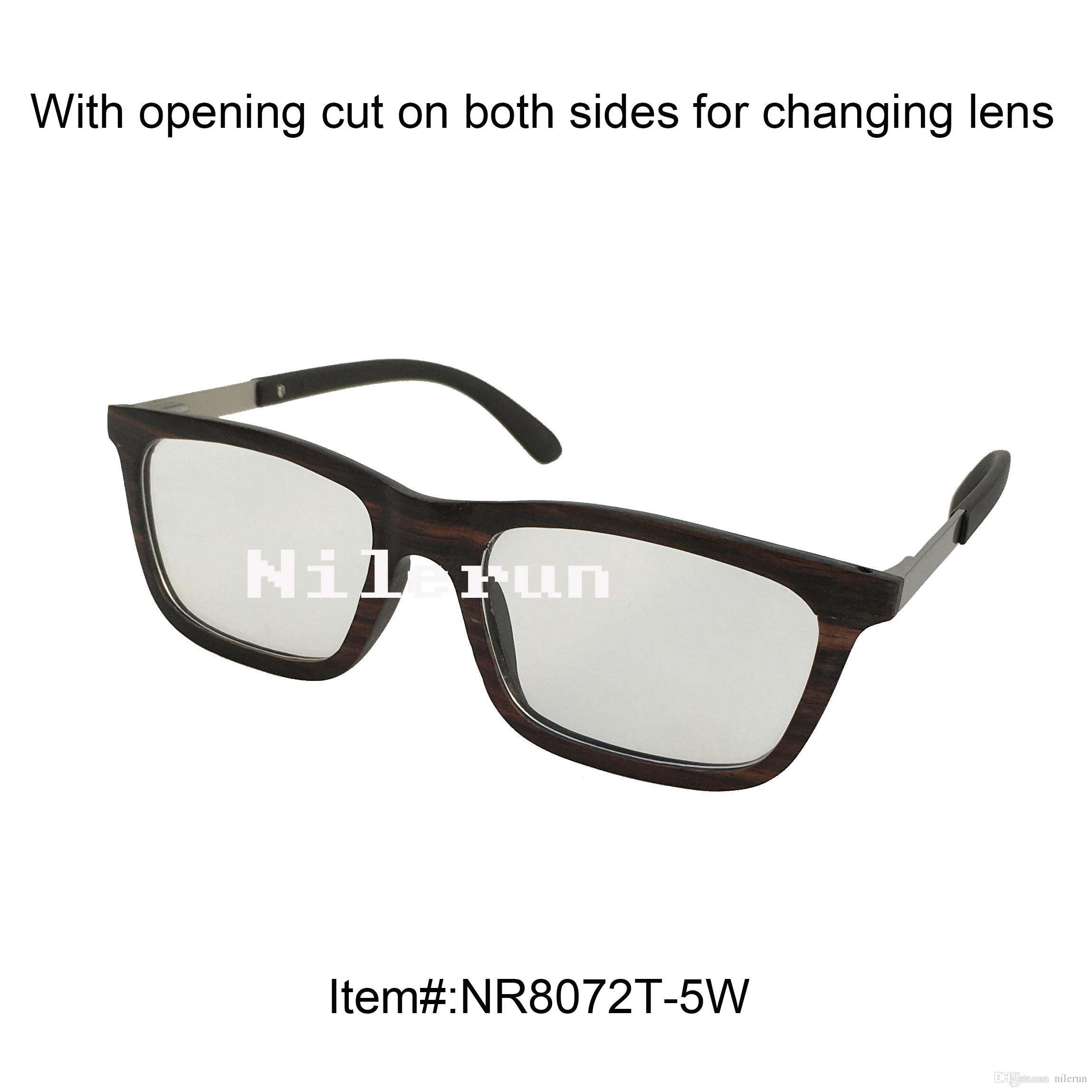 7a4d6504fc Ultra Light Thin Small Square Wood Frame Optical Eyewear With Plain Clear  Lens And Metal Temples Women Eyeglass Frames Best Eyeglasses Frames From  Nilerun