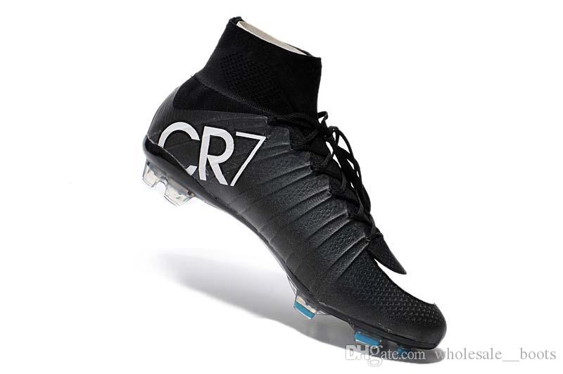 Compre 2017 De Alta Calidad Cristiano Ronaldo Cr7 Fg Mens Soccer Shoes Turf  Original Soccer Cleats Mercurial Superfly Mujeres Niños Zapatos De Fútbol  35 45 ... 657b922b30a