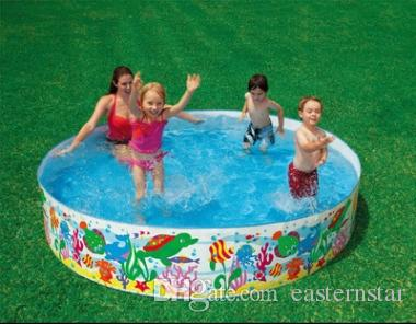 2018 large hard plastic round children paddling pool ocean for Plastik pool rund
