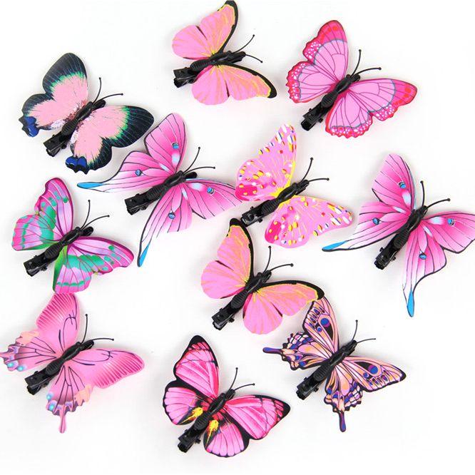 Artificial Butterfly Hair Clips Woman Girls Hair Accessories