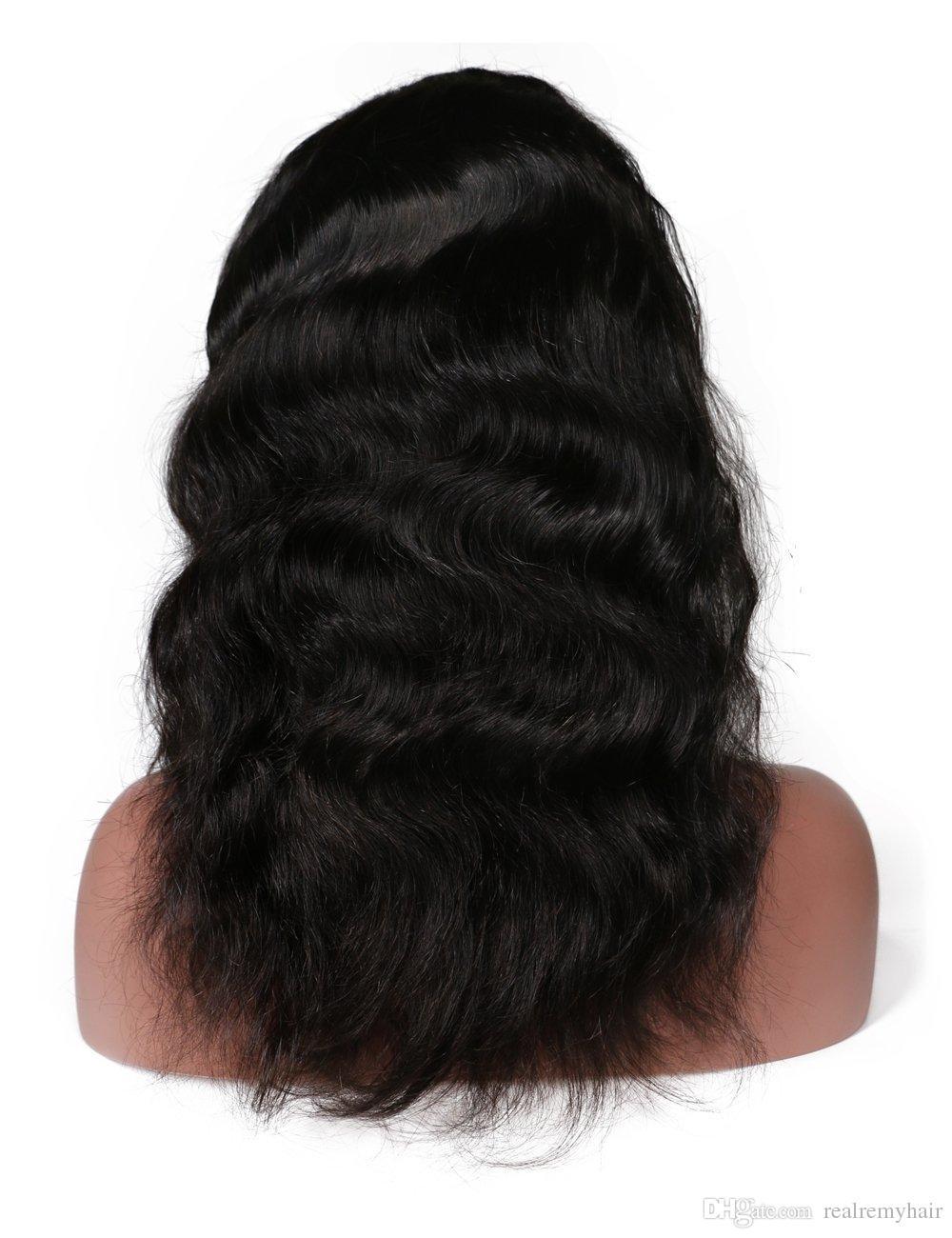 Brasilianische 360 Spitze Frontal Perücke Körperwelle Billig Volle Spitze Frontal Menschenhaarperücken für Schwarze Frauen 360 Spitze Perücke mit Babyhaar