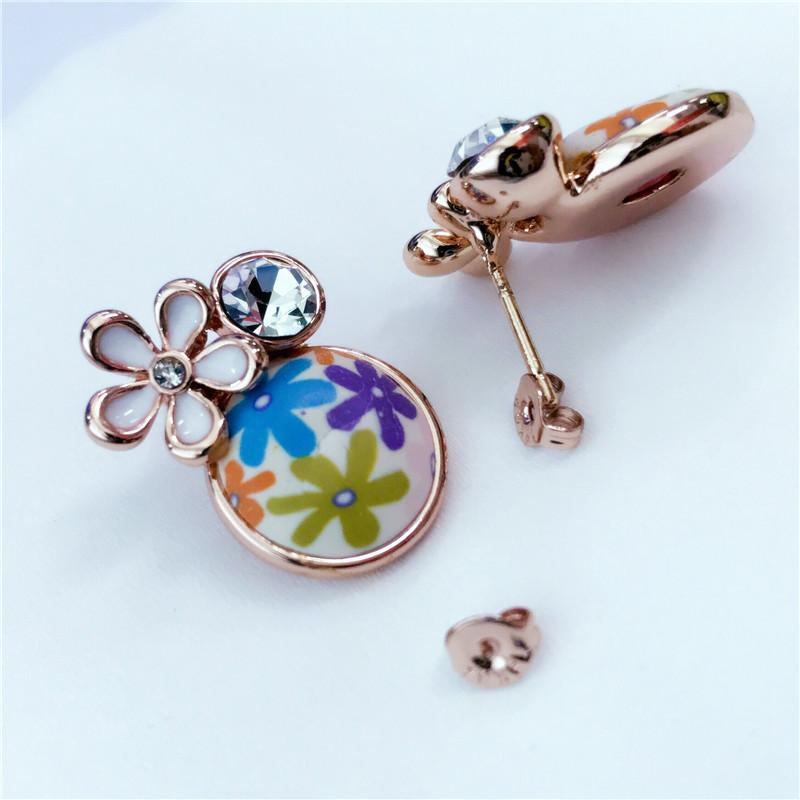 283410ae2 ROXI Earrings New Rose Gold Color Retro China Wind Crystal Colorful ...
